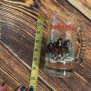 1988 Budweiser beer mug cup Clydesdale anheiser